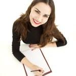 Writing female student — Stock Photo #10055033