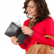 Shopping girl with money — Stock Photo #10055400