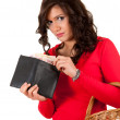 Shopping girl with money — Stock Photo #10055418