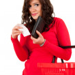 Surprised shopping woman — Stock Photo #10055436