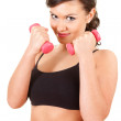Fittnes young woman — Stock Photo