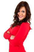 Happy woman with folded arms — Stock Photo