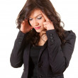 Businesswoman with headache - Stockfoto