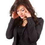 Businesswoman with headache — Stock Photo #10064337