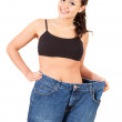 Weight loss girl — Stock Photo #10064583