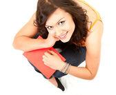 Glada student tjej — Stockfoto