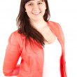 Smiling young overweight woman — Stock Photo