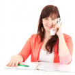 Stock Photo: Calling young woman