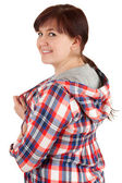 Cheerful overweight teenage girl — Stock Photo