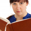 Student woman with book — Stock Photo