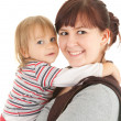 Young mother hugging son — Stock Photo