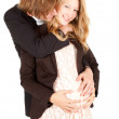 Pregnant couple — Stock Photo #9465013