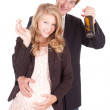 Unhealthy behaviour pregnant teenagers — Stock Photo