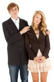 Ashamed teenage couple — Stock Photo