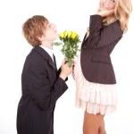 Pregnant couple — Stock Photo #9492643