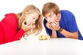 Frightened teenage couple — Stock Photo