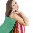 Stock Photo: Shopping young woman