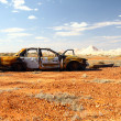 Royalty-Free Stock Photo: Rusty wrecked car in Outback Australia