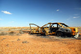 Rusty wrecked car in Outback Australia — Stock Photo