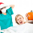 Stock Photo: Halloween or Christmas joke