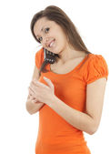 Young woman on the phone — Foto de Stock
