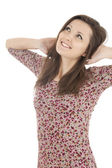 Smiling attractive girl — Stock Photo