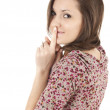 Attractive girl keeping silent — Stock Photo