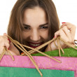 Shopping young woman - Foto de Stock  