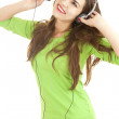 Stock Photo: Young woman in headphones