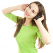 Young woman in headphones — Lizenzfreies Foto