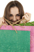 Shopping young woman — Stock Photo
