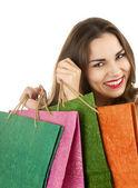 Rif occasionnel avec des sacs à provisions — Photo