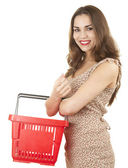 Shopping teenage girl — Stock Photo