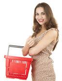Shopping teenage girl — Stock Photo
