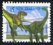 Carnosaur and Sauropod — Stock Photo