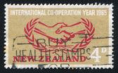 Emblem of International Cooperation Year — Stock Photo