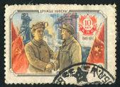 中国の鉄鋼労働者 — ストック写真