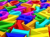 Background of alphabets — Стоковое фото