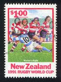Rugby oynayan kadınlar — Stok fotoğraf