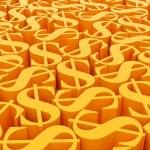 Dollar symbols — Stock Photo