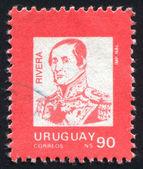 URUGUAY - CIRCA 1990: stamp printed by Uruguay, shows General Jose Fructuoso Rivera, circa 1990 — Zdjęcie stockowe