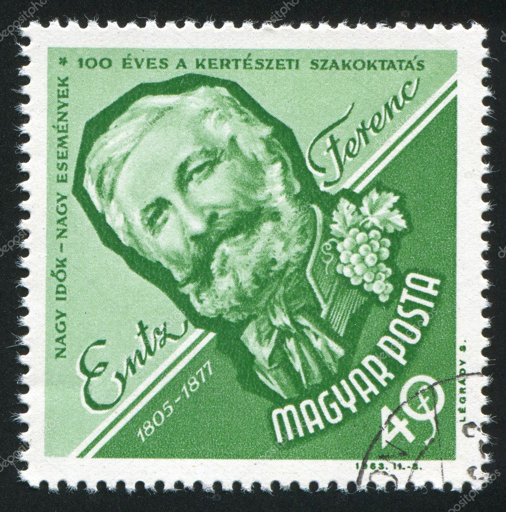 HUNGARY - CIRCA 1963: stamp printed by Hungary, shows Ferenc Entz, Horticulturist, circa 1963 — Stock Photo #8040055