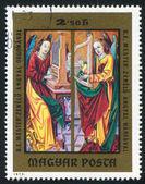 ángeles tocando el órgano y el violín — Foto de Stock