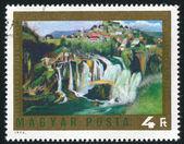 Waterfall at Jajce — Stock Photo