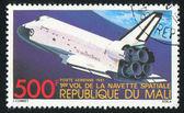 MALI - CIRCA 1981: stamp printed by Mali, shows shuttle, circa 1981 — Stok fotoğraf