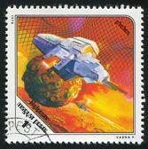 Raumschiff und phobos — Stockfoto