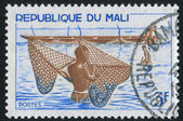 Fishermen with Nets — Stock Photo