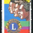 Stock Photo: MALI - CIRCA 1987: stamp printed by Mali, shows Service Organization, Lions, circa 1987