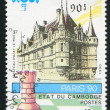 Chess piece and Chateau - Lizenzfreies Foto