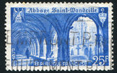 Cloister of St.Wandrille Abbey — Stock Photo